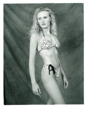 model blonde bikini leopard 1991
