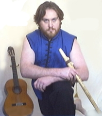 2004 - Hawke beard and shaggy hair, Dr Z & The Synthetic Zen Show, Guitar, Flute, and Kungfu outfit.